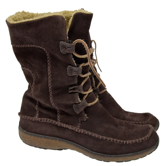 Timberland Shoes - TIMBERLAND Sz 9M Brown Suede Leather Lace Up Comfo